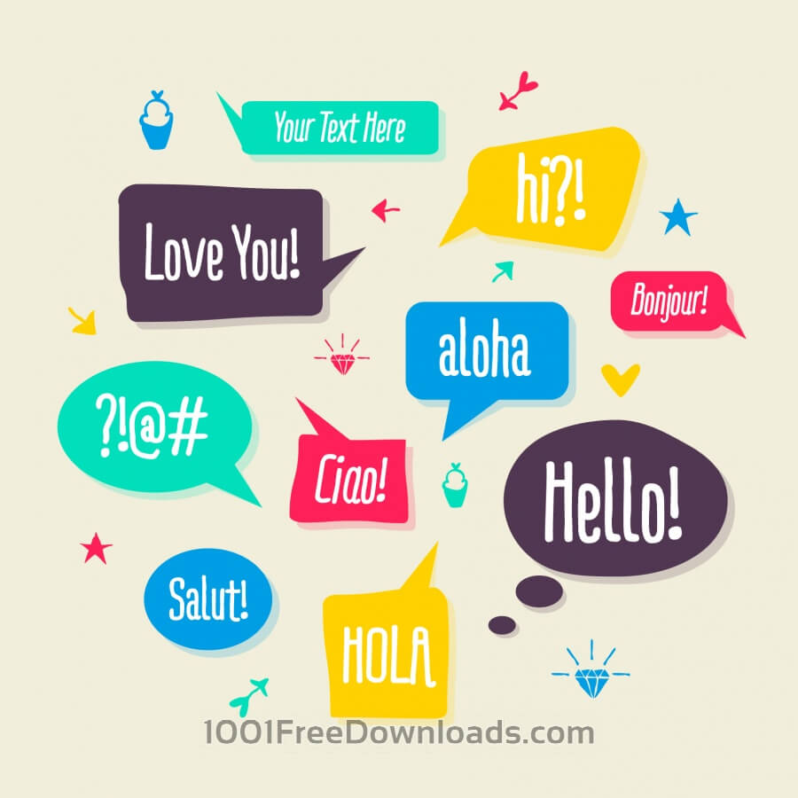 Free Set of Speech Bubbles