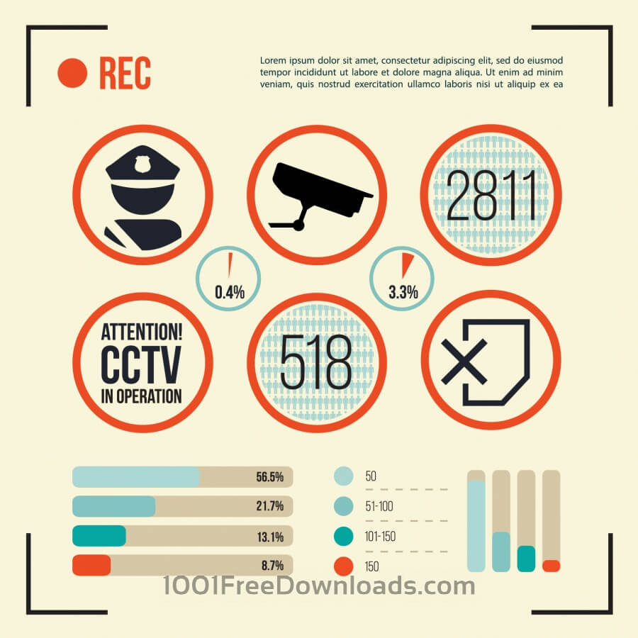 Free Vectors: Set of CCTV Camera Icon | Backgrounds