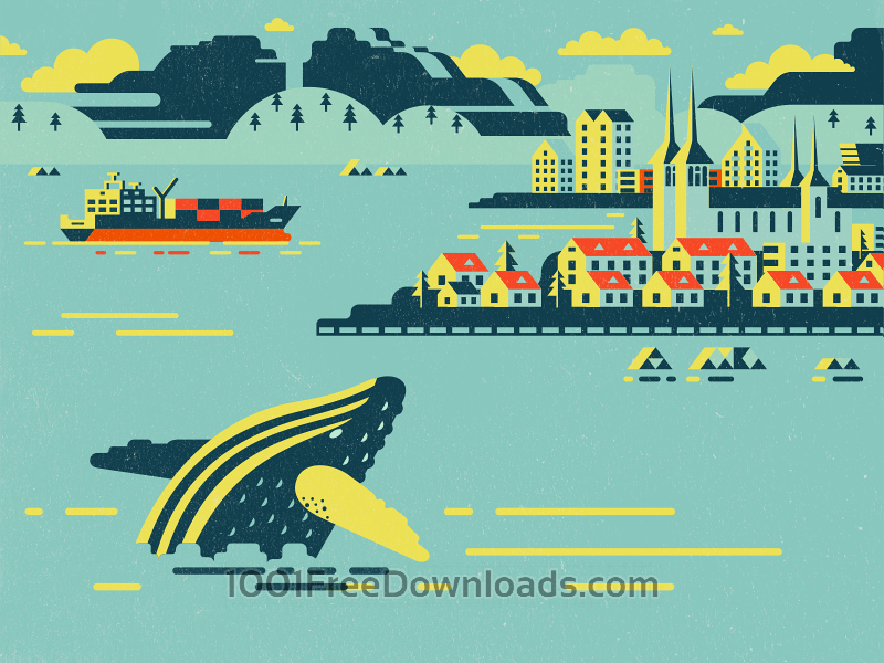 Free Vectors: Iceland illustration | Abstract