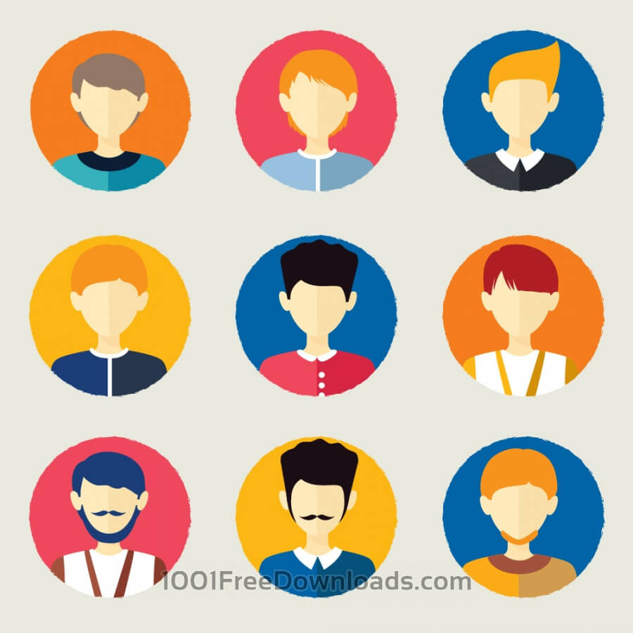 Free Vectors: People avatars | Objects
