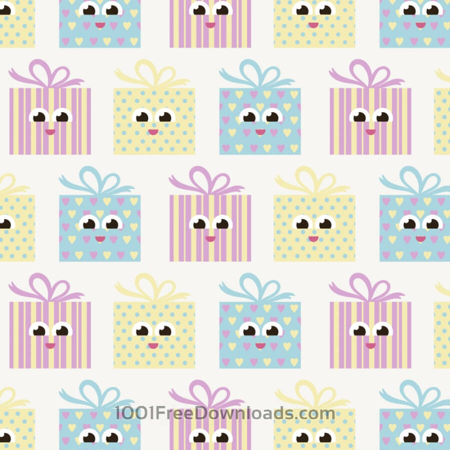 Free Vectors: Cute pattern with gifts | Abstract