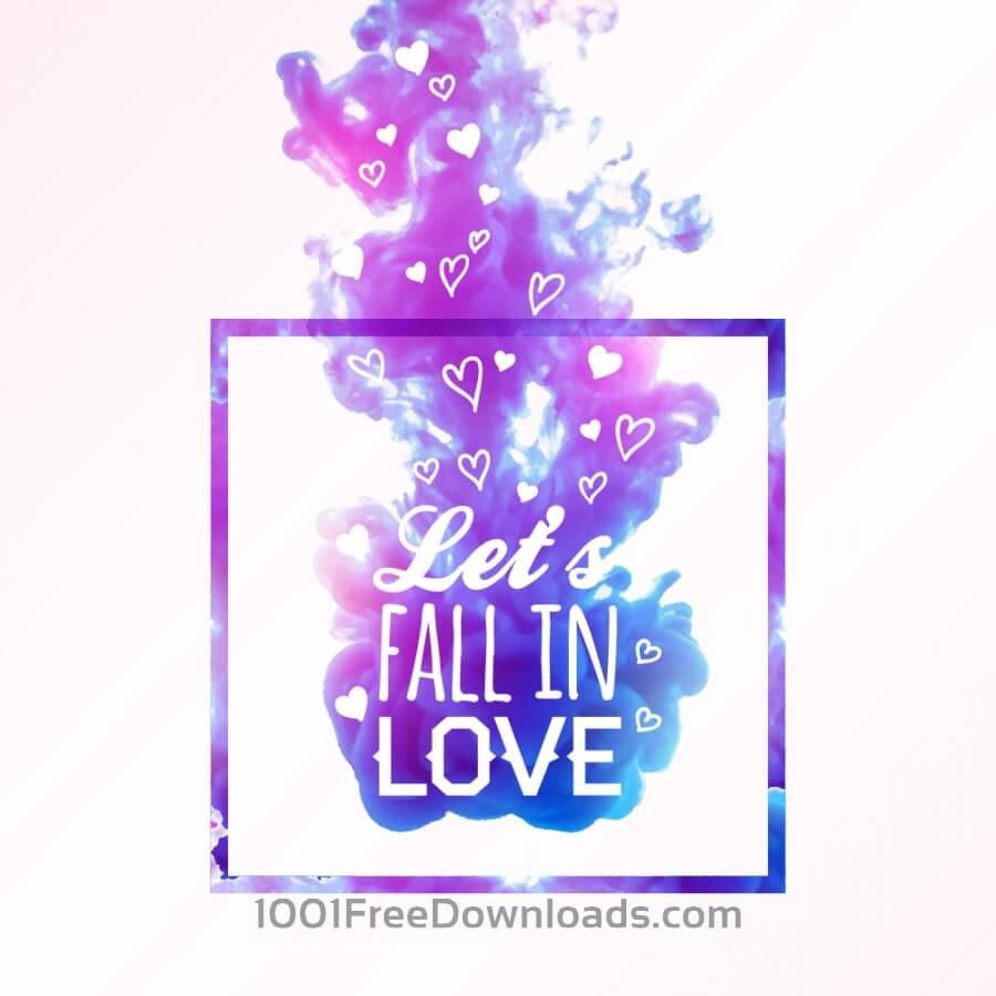Free Vectors: Abstract cloud of ink in water and love typography | Abstract
