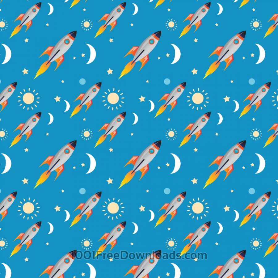 Free Vectors: Space rocket pattern | Abstract