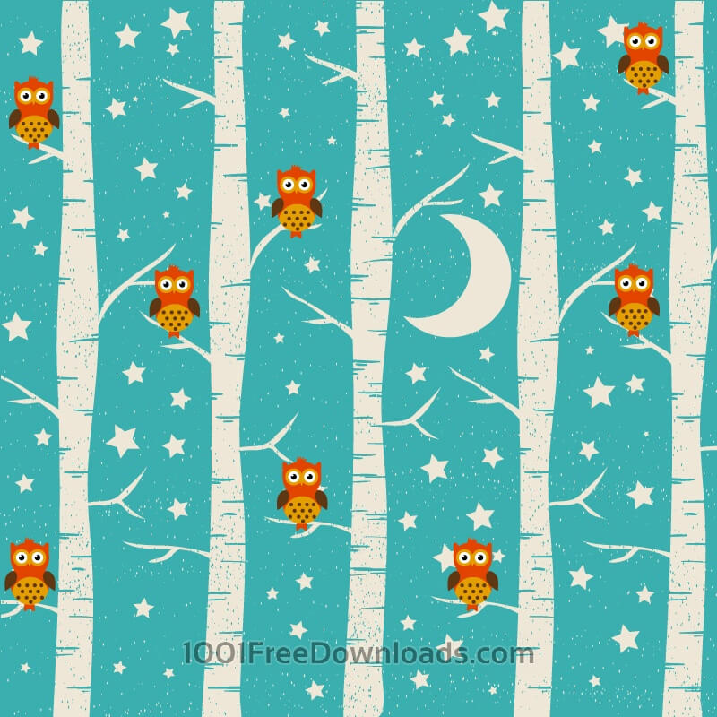 Free Forest illustration with owls