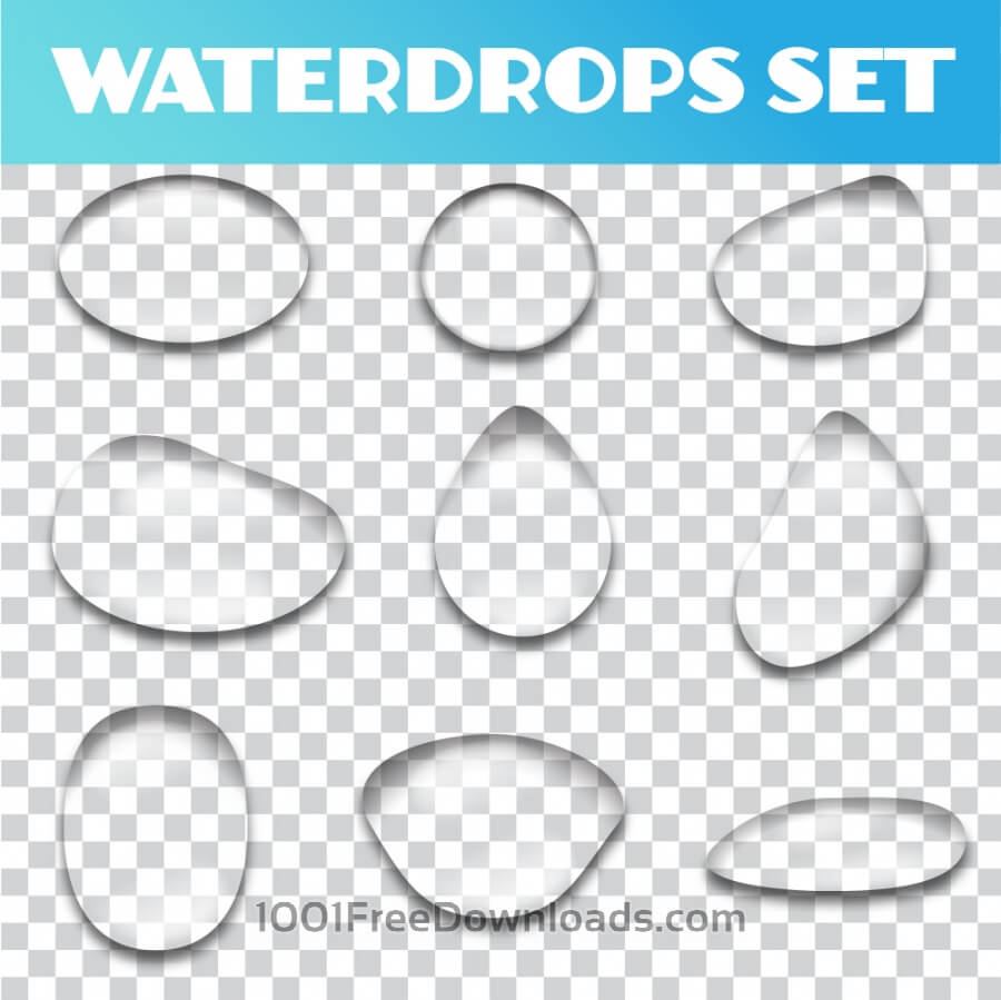 Free Vectors: Water drops vector set | Abstract