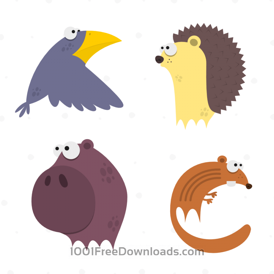 Free Vectors: Cute Animals Vector Set 6 | Nature