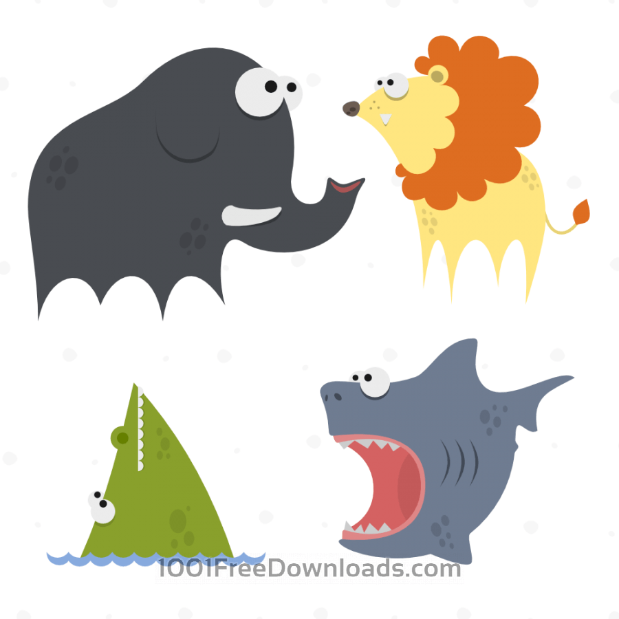 Free Cute Animals Vector Set 8