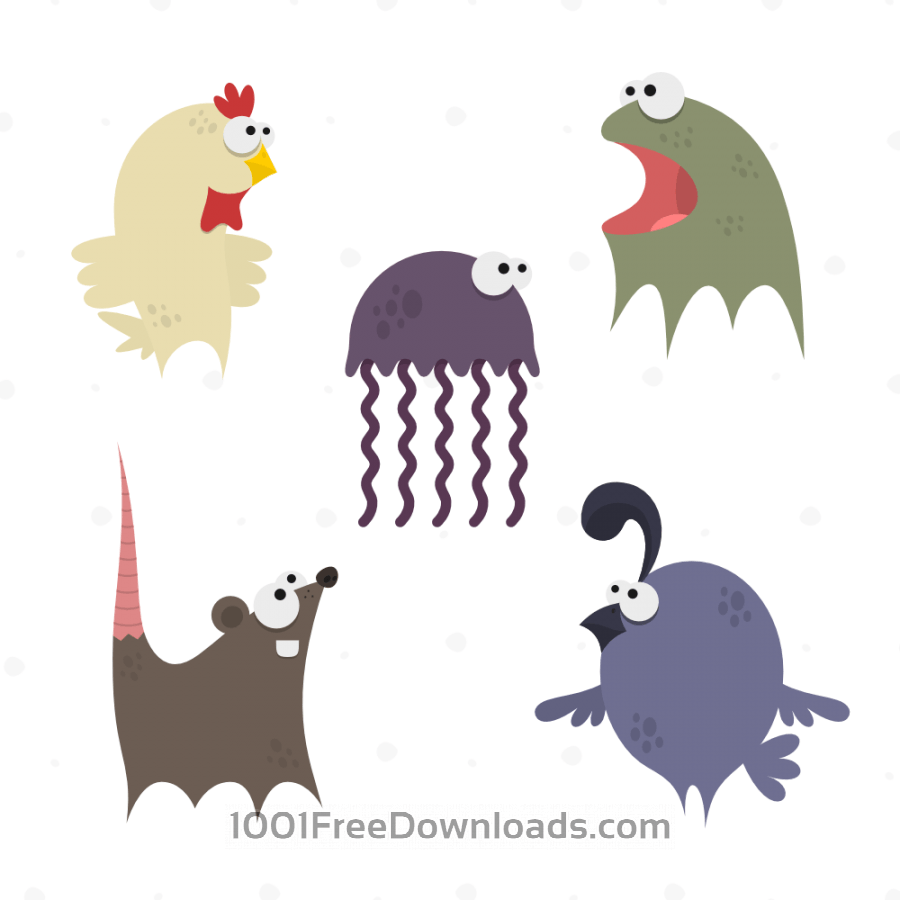 Free Cute Animals Vector Set 5