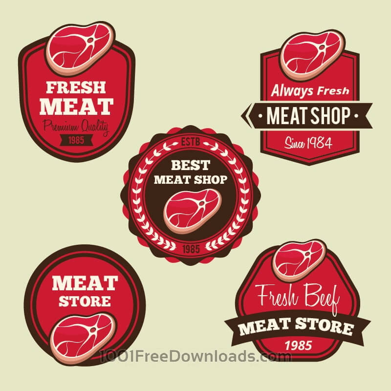 Free Labels set for meat shops