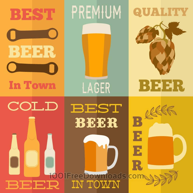 Free Vectors: Beer flat concept design | Abstract