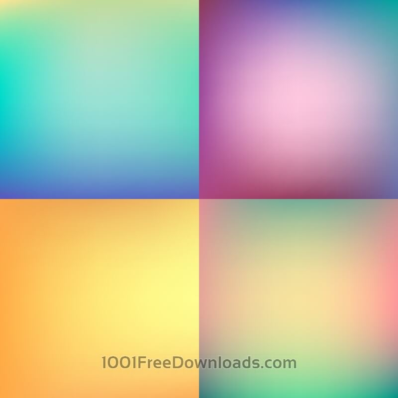 Free Abstract colorful blurred backgrounds set