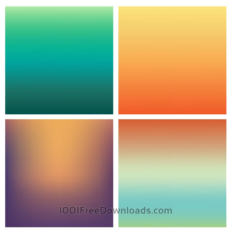 Free Vectors: Abstract colorful blurred backgrounds set | Abstract