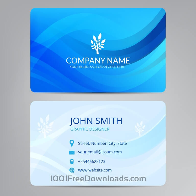Free Vectors: Blue business card | Abstract