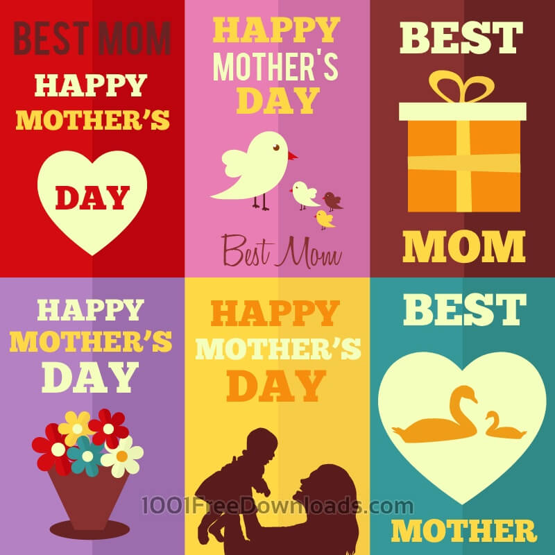 Free Retro Mothers Day Cards