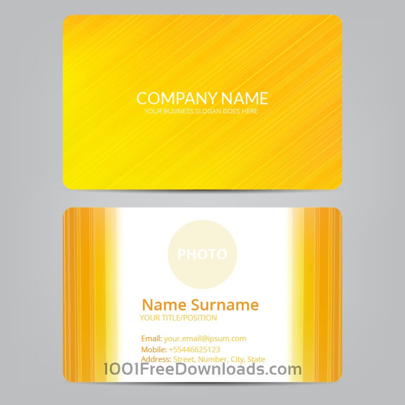 Free Vectors: Orange business card | Abstract