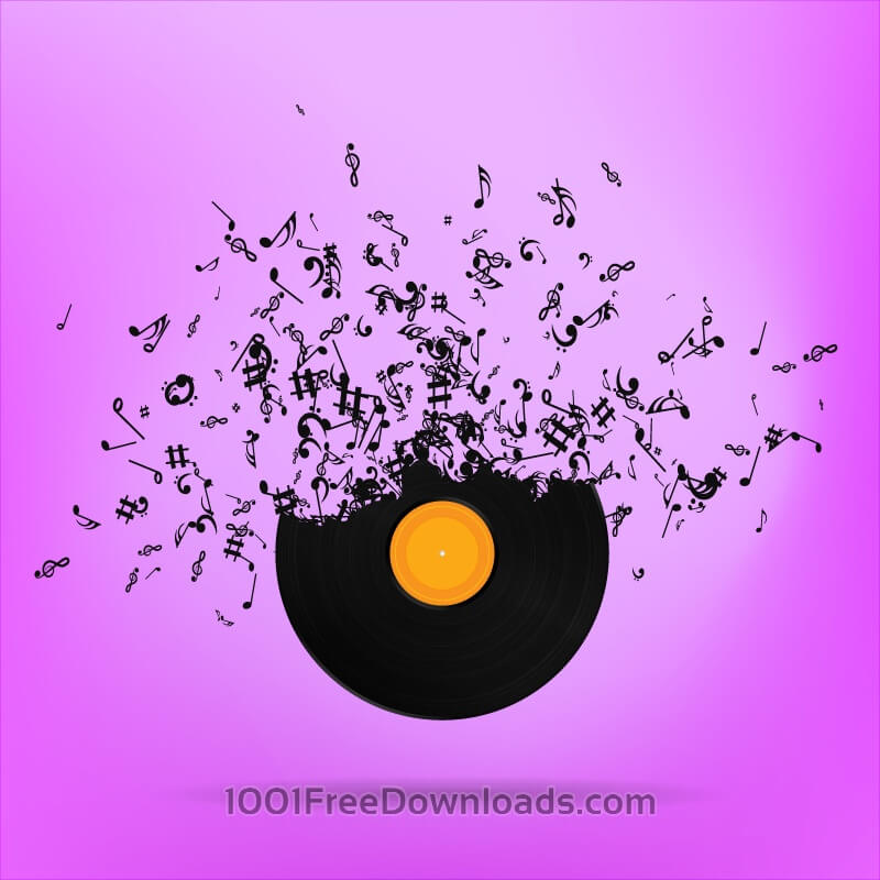 Free Vectors: Vinyl Record Illustration | Abstract