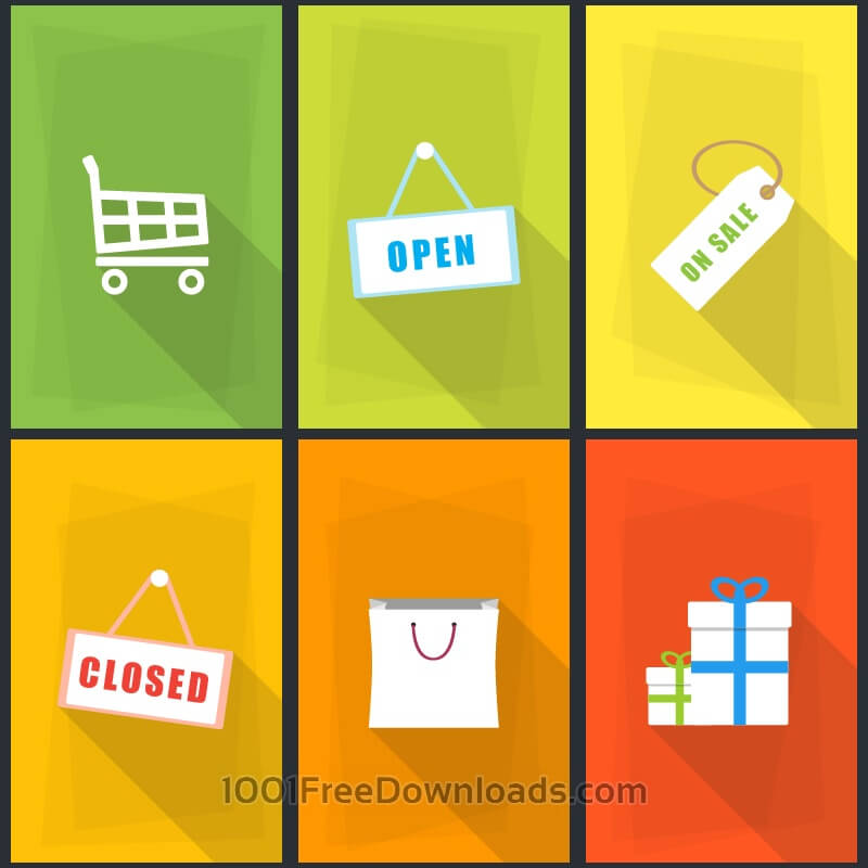 Free Vectors: Vector Shopping Icons | Abstract