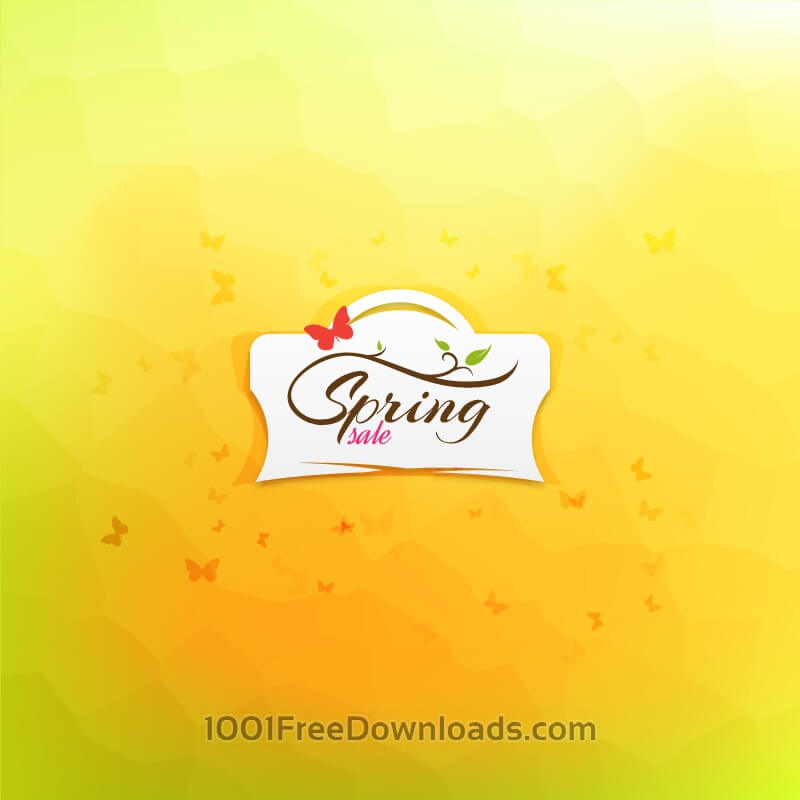 Free Spring Sale Illustration