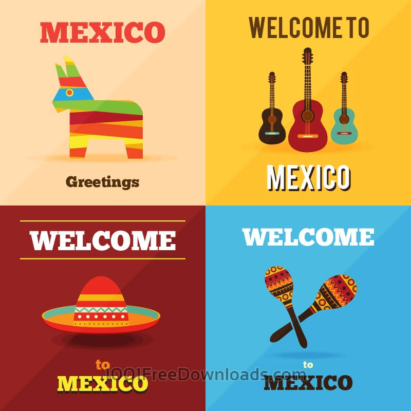 Free Vectors: Welcome to Mexico  | Icons