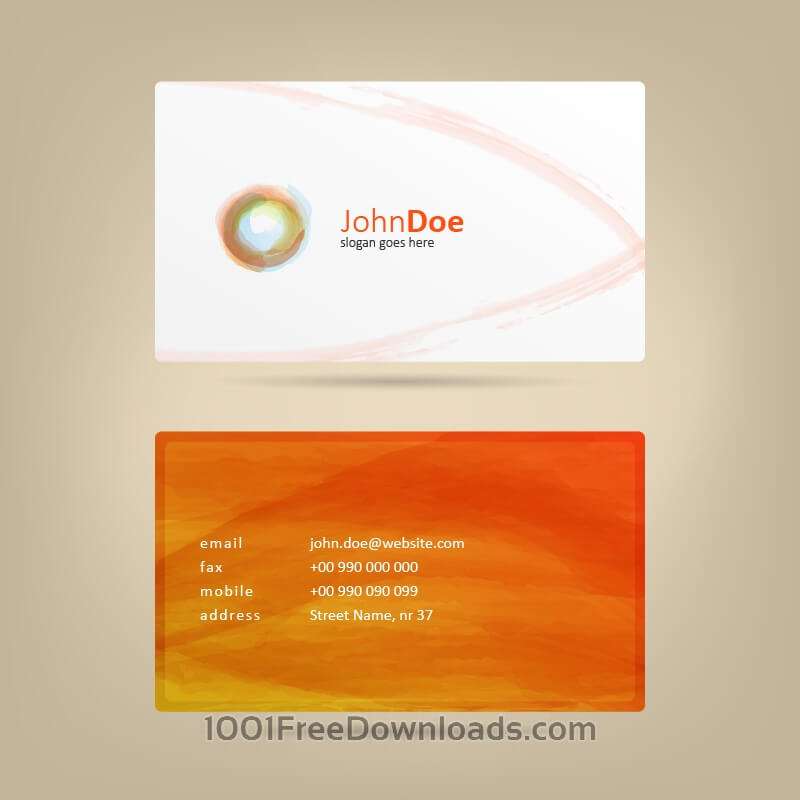 Free Watercolor Business Card