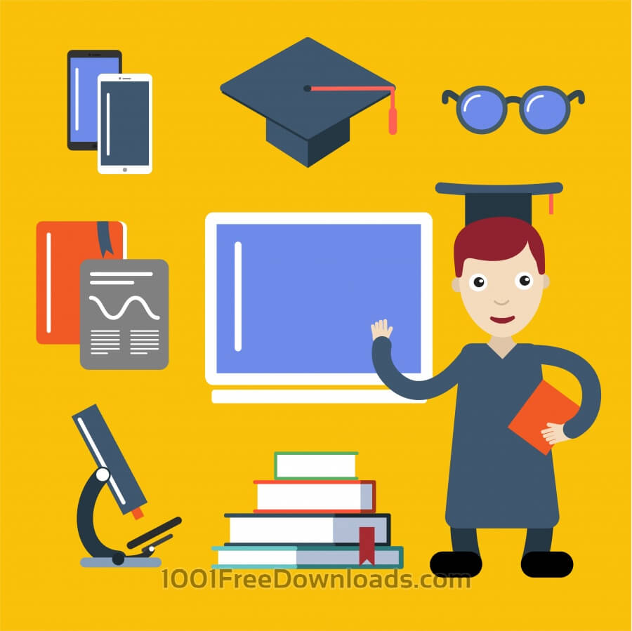 Free Vectors: Student character vector illustration for free design | Design