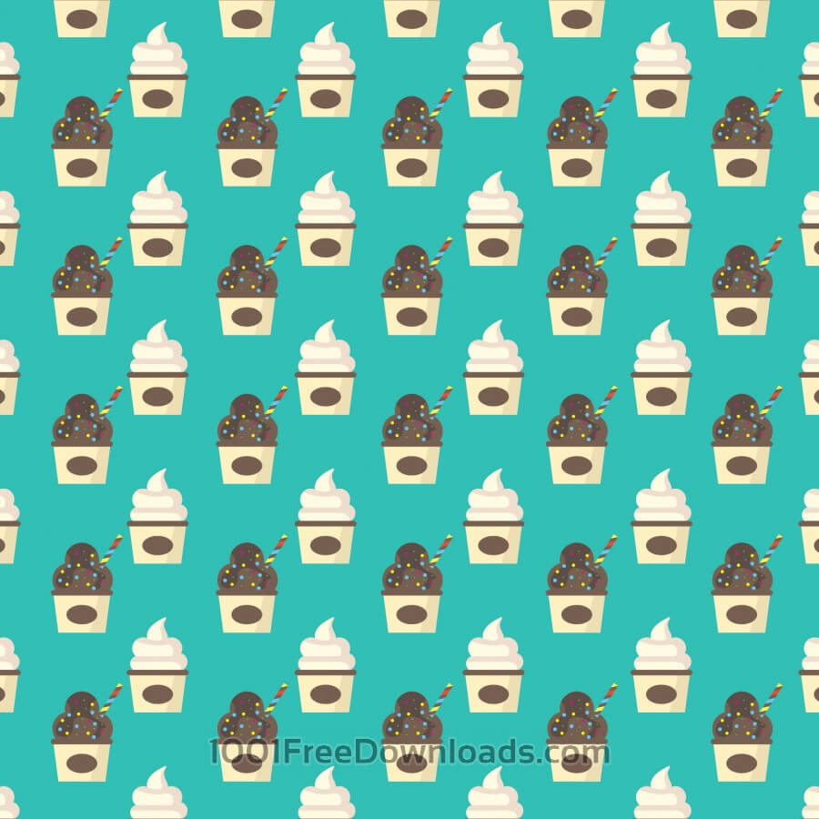 Free Vectors: Ice Cream Pattern Background | Backgrounds