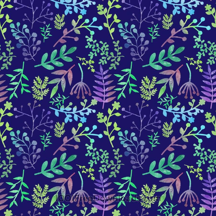 Free Vectors: Floral watercolor pattern | Patterns