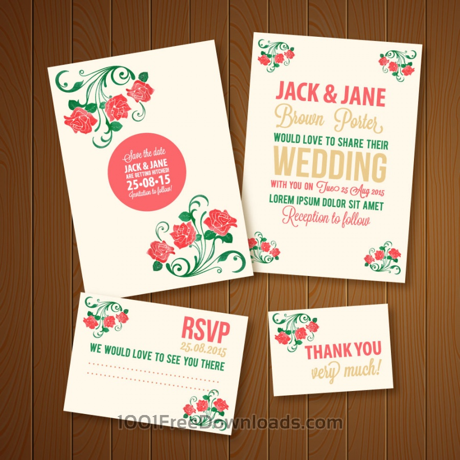 Free Wedding invitations template
