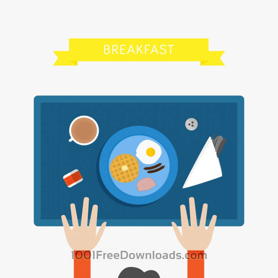 Free Vectors: Breakfast Illustration | Objects