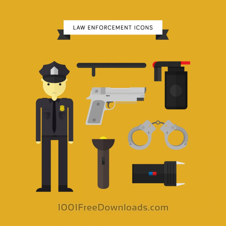 Free Vectors: Law Enforcement Icons | Icons