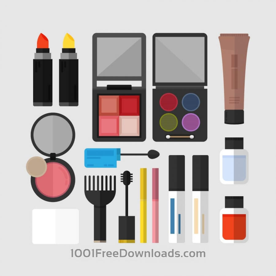 Free Vectors: Cosmetics Icons | Icons
