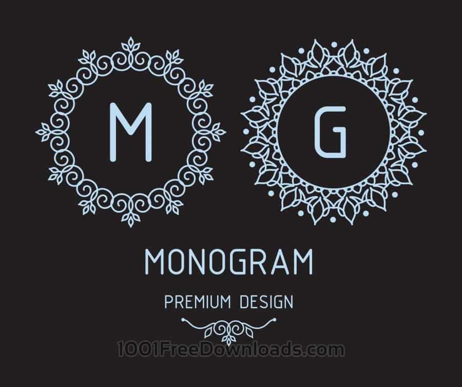 Free Vectors: Monogram design templates | Abstract