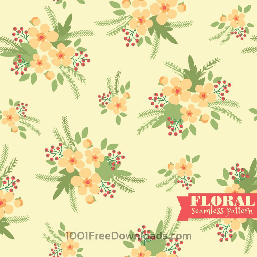 Free Vectors: Floral seamless pattern | Abstract
