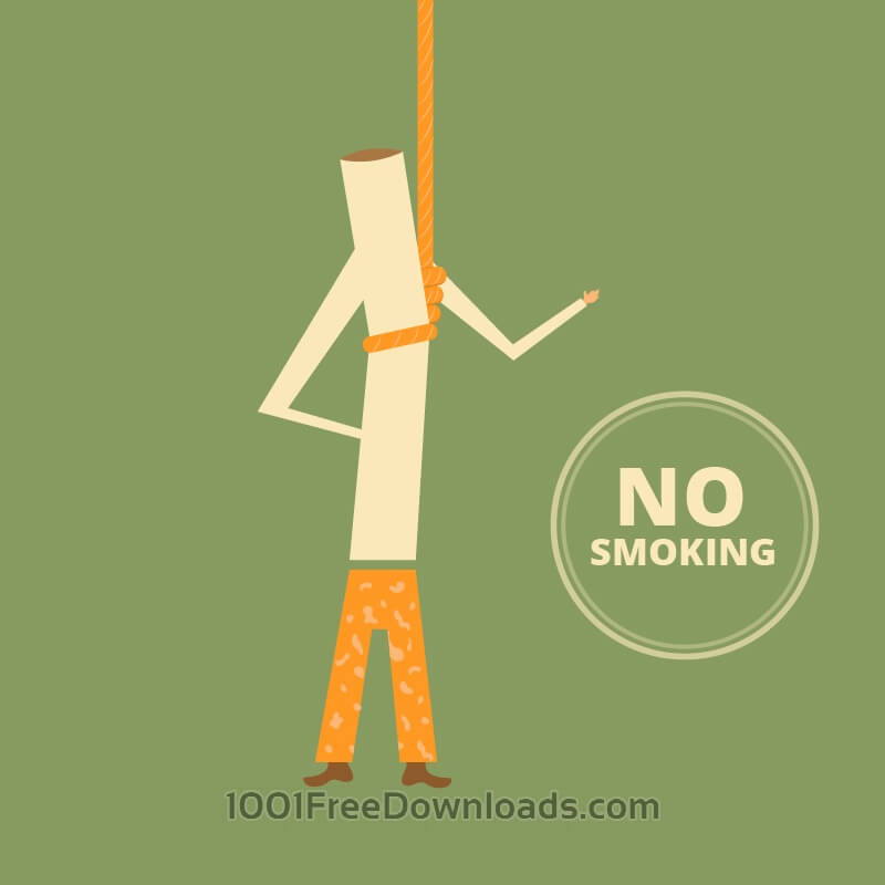 Free No Smoking Retro Illustration, cigarette