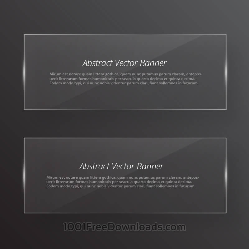 Free Transparent glass abstract banners