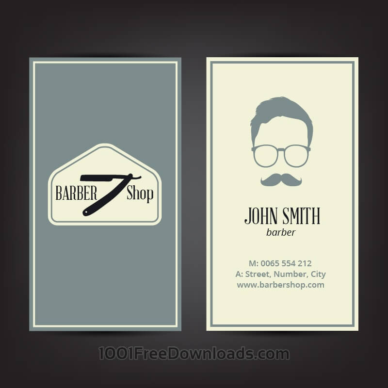 Free Vectors: Barber shop business card | Abstract