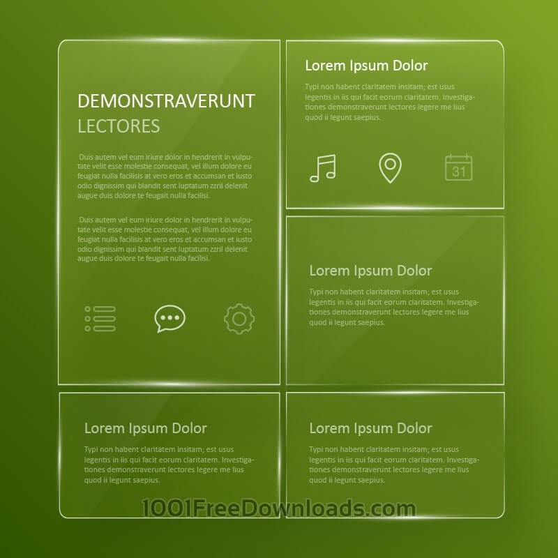 Free Vectors: Transparent, glassy user interface  | Abstract