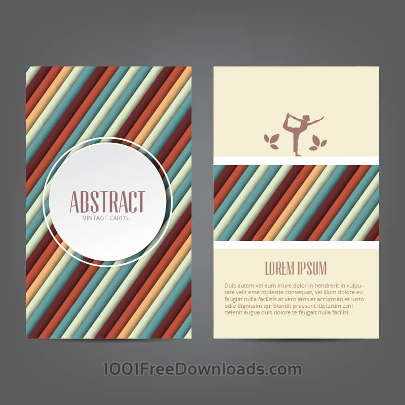 Free Vectors: Abstract yoga card | Abstract