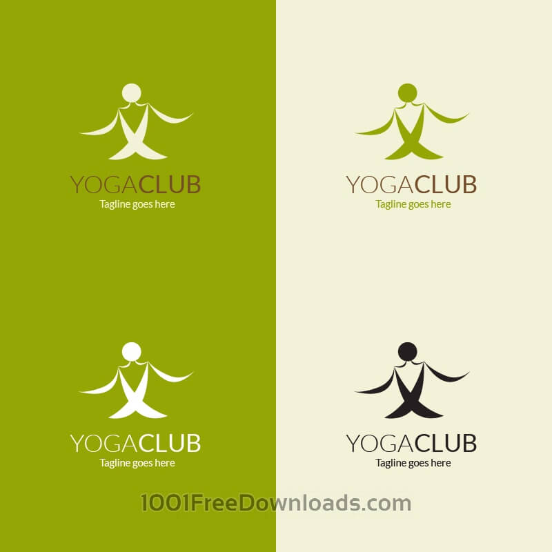 Free Yoga pose vector logo