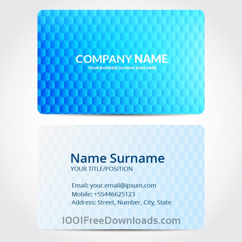 Free Vectors: Hexagon business card design | Abstract