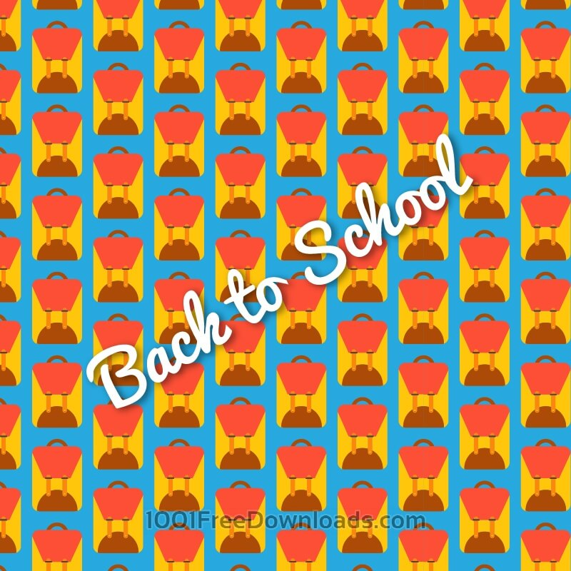Free Vectors: School bag pattern, back to school | Abstract