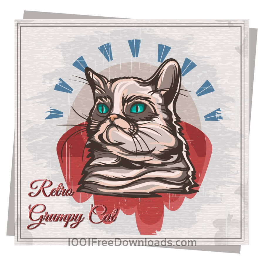 Free Mascot grumpy cat