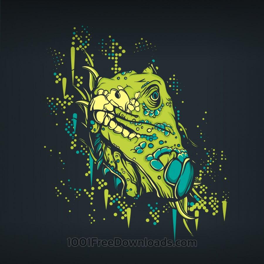 Free Retro lizard
