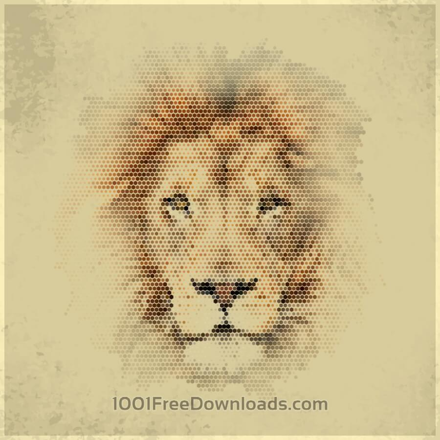 Free Vectors: Vintage geometric lion | Abstract
