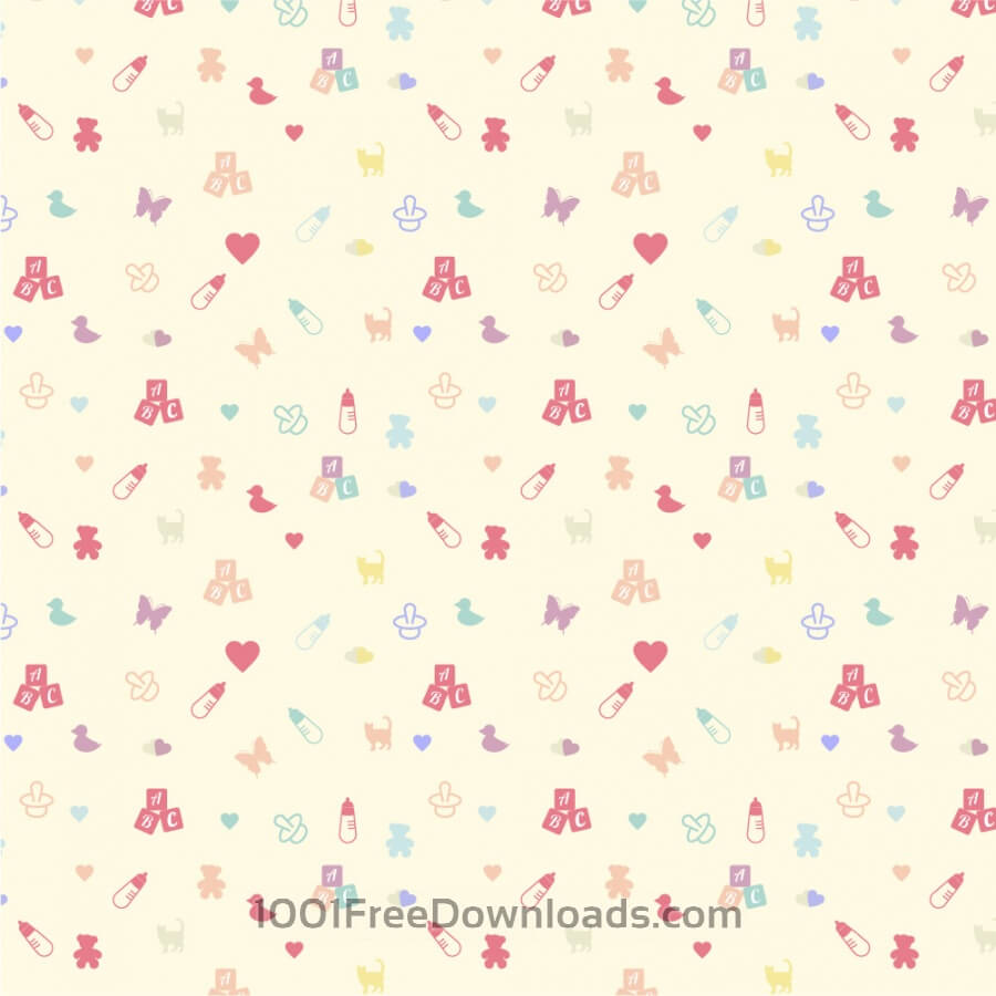 Free Vectors: Cute baby pattern | Abstract