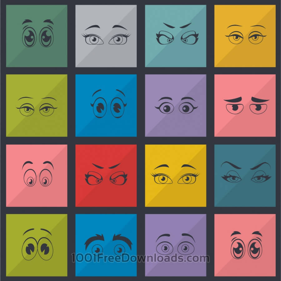 Free Eyes vector set