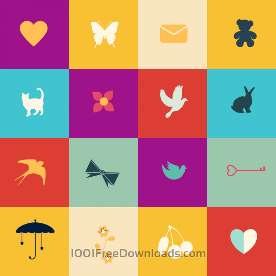 Free Vectors: Summer elements in metro style | Icons
