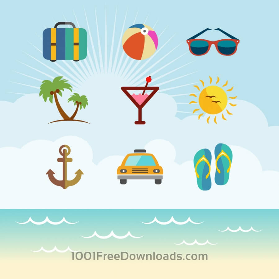 Free Vectors: Travel Vector Icon set | Icons