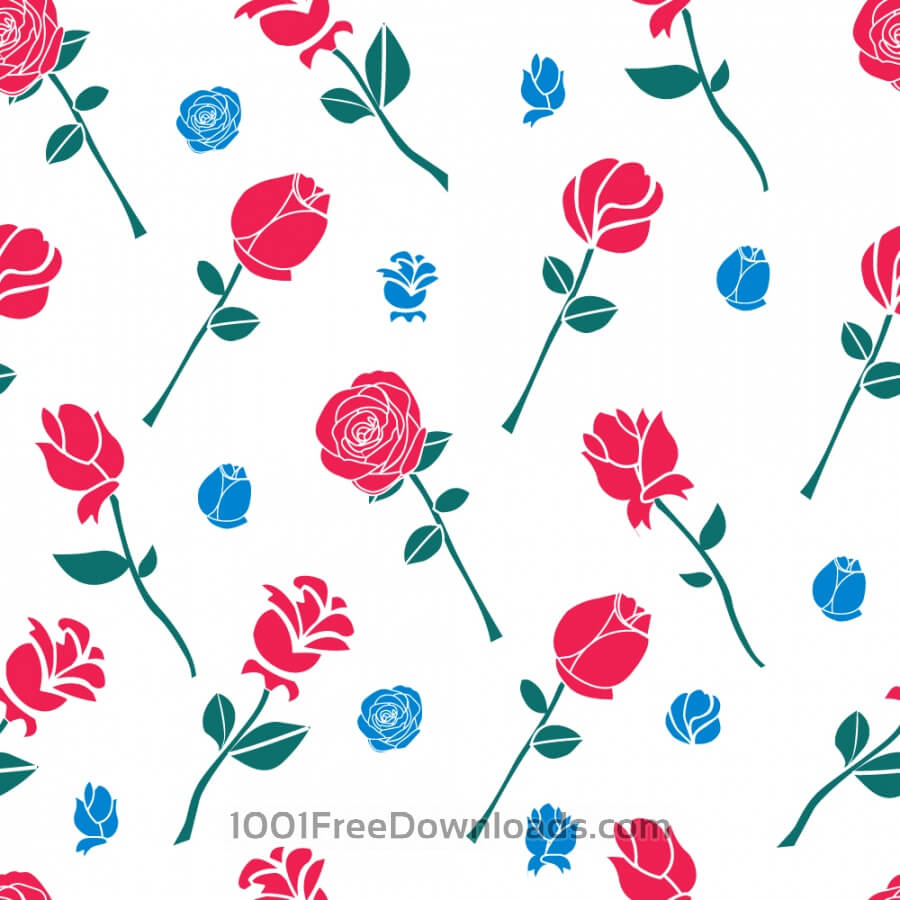 Free Pattern with roses