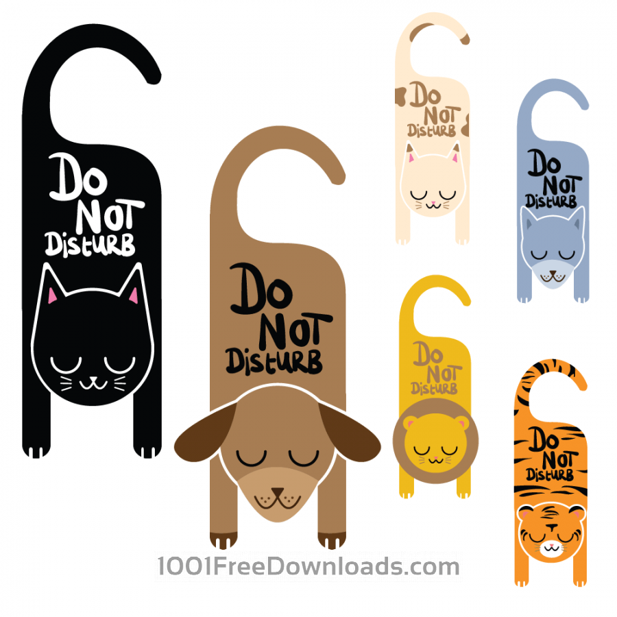 Free Do not disturb animal signs